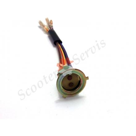 Патрон (цоколь) для лампи головного світла три вуса тип Хонда, Сузукі, Ямаха