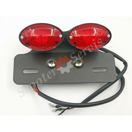 Задній ліхтар, стоп / габарит / повороти для мотоцикла, квадроцикла, баггі, світлодіодний, 12V
