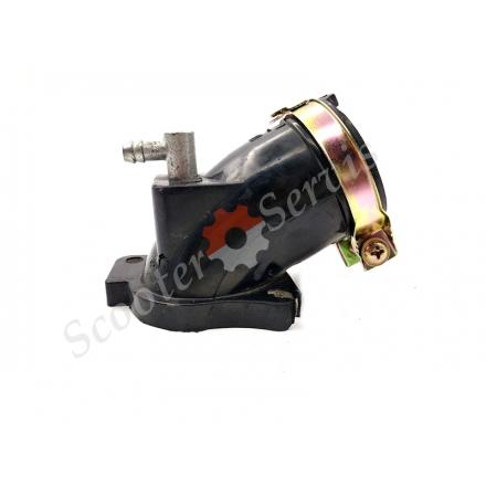 Патрубок, впускний колектор один штуцер квадроцикла Linhai 260, 300, 400, ATV, Yamaha YP250, Majesty