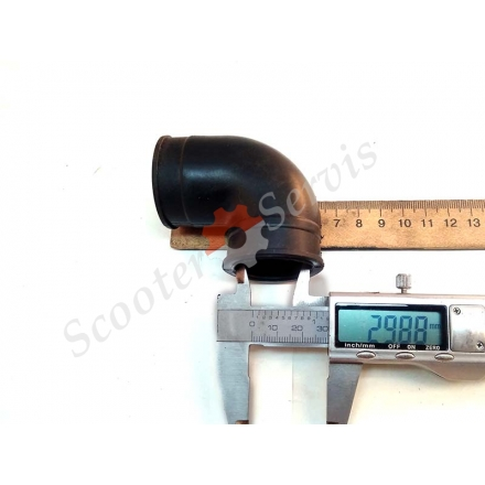 Патрубок повітряного фільтра кут 90 градусів