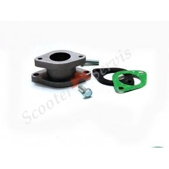 Впускний колектор, патрубок карбюратора, мотоцикла, квадроцикла 125-300 кубів двигун