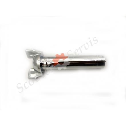 Хромована ручка паливного крана Honda Iron Horse 400, Bros 400, Steed 400, Roadster 400, Shadow 400, VLX400, VRX400, NV400