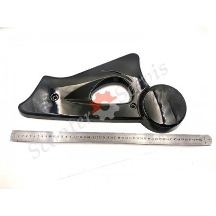 Защита маятника, накладки вилки заднего колеса электроскутера