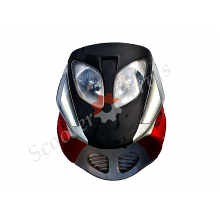 Передний пластик, обтекатель в сборе с фарой скутера Viper Storm, Вайпер Шторм Б/У