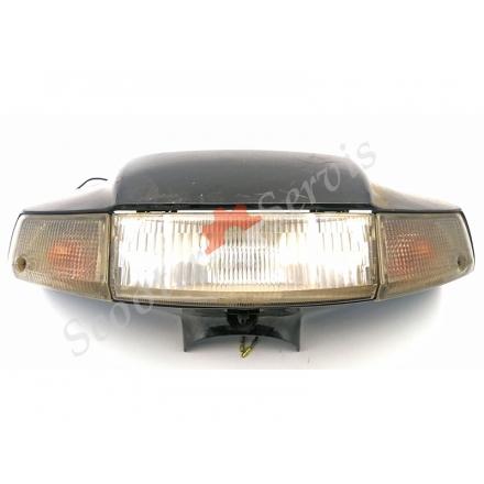 Пластик головы, передняя часть в сборе с фарой, поворотами Сузуки Сепия (железка), Suzuki Sepia
