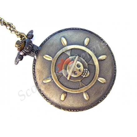 """Годинники кишенькові """"Череп і кістки"""", бронза"""