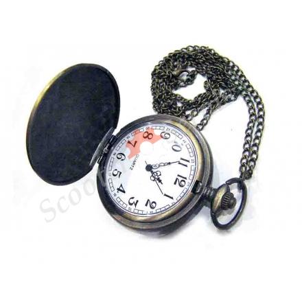 """Годинники кишенькові """"Череп і шаблі"""", кольорова емаль"""