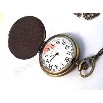 """Годинники кишенькові """"Череп пірата і шаблі"""", бронза"""
