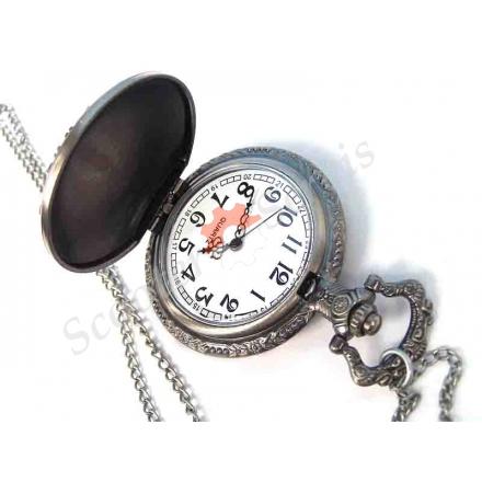 """Годинники кишенькові """"Череп"""", срібло"""