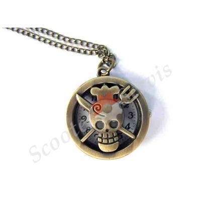 """Годинники кишенькові, малі, """"Піратський кухар"""", бронза"""