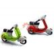 Моделька мотороллера, ретро скутера Vespa цвет зеленый, красный