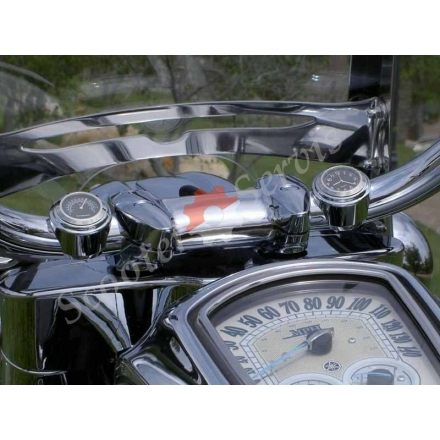 Годинники на відкритий кермо мотоцикла, квадроцикла, скутера, водонепроникні, хромований корпус.