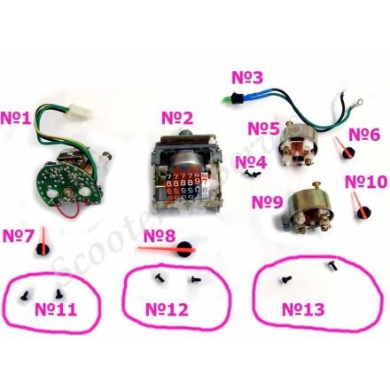 Приладова панель частини, тахометр, спідометр, вольтметр, покажчик рівня палива, світлодіод, стрілки, тип Viper Victory, Вайпер Вікторі, Вайпер F-1, F-50, Ф1, Ф50