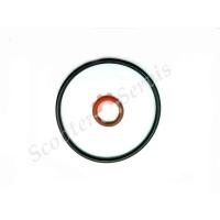 Прокладка уплотнитель (набор) масляного фильтра Suzuki Vecstar AN125, AN150, Сузуки Векстар