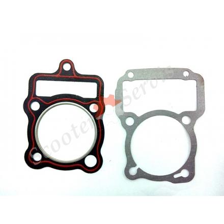 Прокладки ЦПГ для мотоцикла, трицикла, двигуна 200-250 кубів тип Зубр 200-250, CG 200 250 (малий набір)