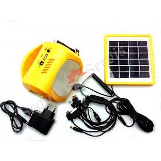 Ліхтар світлодіодний з зарядкою від сонячної батареї, зарядка телефону, смартфона, планшета від сонця, літієві акумулятори