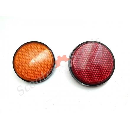 Катафот, світловідбивач, помаранчевий, червоний, хромований