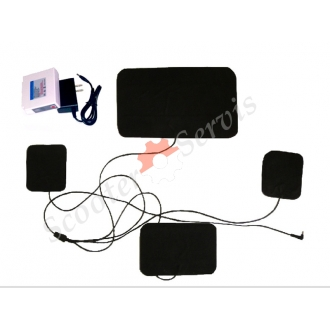 Пластины для одежды с подогревом, электро (нагревательный элемент 3шт.+ аккумулятор литий)