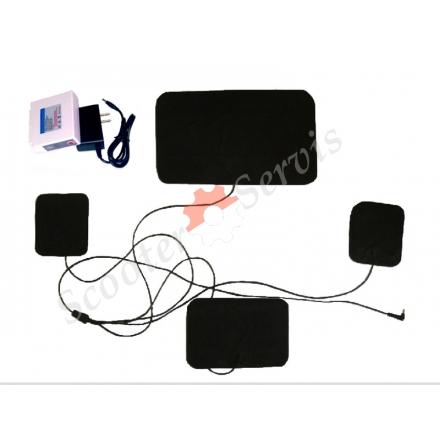 Пластини для одягу з підігрівом, електро (нагрівальний елемент 3шт. Акумулятор літій)