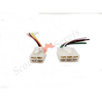 Коннектор, разъем подключения коммутатора на 4/6 проводов