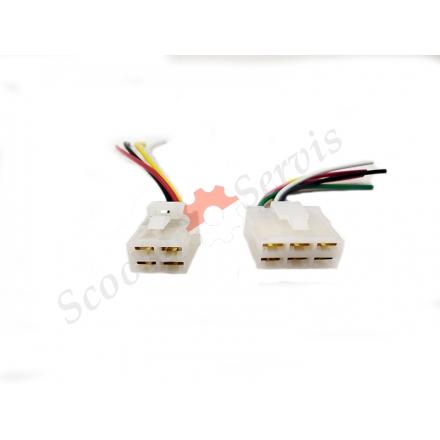 Конектор, роз'єм підключення комутатора на 4/6 проводів