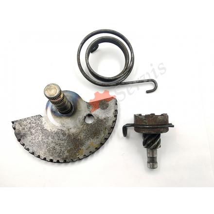 Заводной механизм в сборе, полумесяц и храповик Honda DIO, Хонда Дио, AF61/62