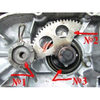 Шестерні стартера механізму 2T двигуна Ямаха Мінт, Yamaha Mint