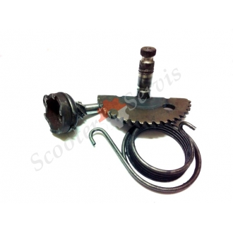 Шестерни заводного механизма, набор (полумесяц, храповик, пружина) на скутер Honda Dio, Tact 24, Хонда Дио, Такт, AF-18, AF-28, AF-27, японский оригинал