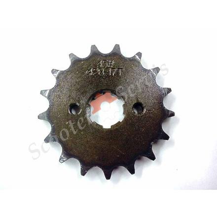 Зірка ведуча мотоцикл, квадроцикл 17 зубів, крок ланцюга 428, при розжарений зубець