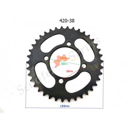 Звездочка ведомая заднего колеса мотоцикла 420-38