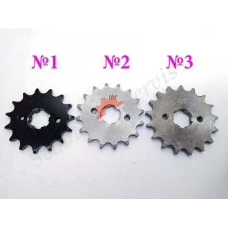 Зірочка провідна мотоцикла Зонгшен, Zongshen F5 200/250 кубів 15 зубів, 16 зубів, 17 зубів, для ланцюга 428