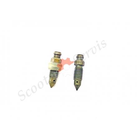 Болт сливной суппорта, для прокачки тормозной жидкости м6