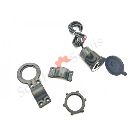 Зарядное устройство USB, врезной универсальный, герметичный, на руль мотоцикла, скутера, автомобиля