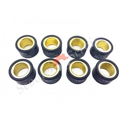 Ролики трансмісії варіатора максі скутера Yamaha TMAX500 / 530, XP500, XP530, 25 * 15 20 грам