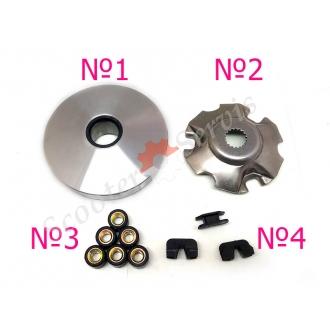 Вариатор части, двигатель AN125, AN150 Сузуки Векстар, Suzuki Vecstar