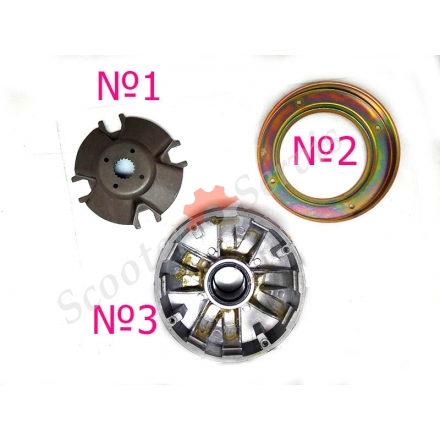 Вариатор части, двигатель YP-250 Yamaha Majesty 250, Ямаха Маджести 250, Браво 260, Лаки 260, Босс 250, Спидгир 250, Nitro 250, квадроцикла 250-300 кубов