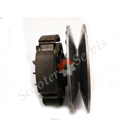 Задний вариатор в сборе Aprilia Atlantic 500, Scarabeo 500, Piaggio Beverly 500 кубов, инжектор, Nexus X9, EVO X 10, MP3 500, ZAPM341, B500, разборка двигателя M341M