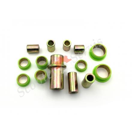 Втулки передньої вилки CH125, Honda Spacy 125, набір з металевими втулками, ремкомплект важеля вилки