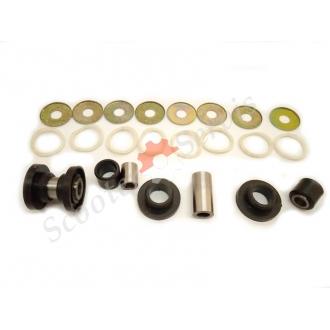 Втулки передней вилки, рычажная, Хонда Лиад, Honda Lead, набор с металлическими втулками, ремкомплект рычажной вилки