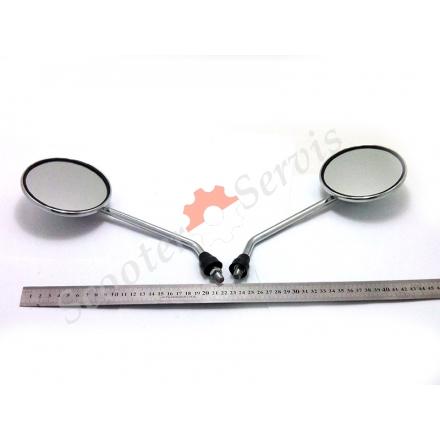 "Зеркала - ""ретро"" металлические, круглые, хром М8-M10"
