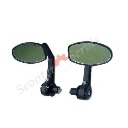 Зеркала с креплением в ручки руля,  диаметр руля от 18mm, (антиблик)