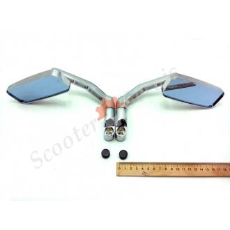 Дзеркала з переднім виносом, металеві, сферичні, антиблик, (хромовані)