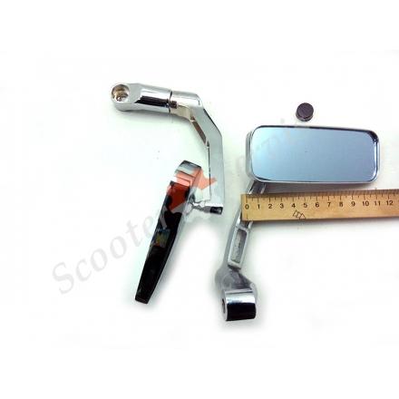 Зеркала с передним выносом, металлические, сферические, антиблик, (хромированные)