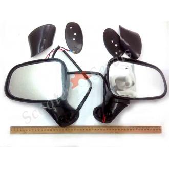 Дзеркала з поворотами з великим оглядом для максі скутерів