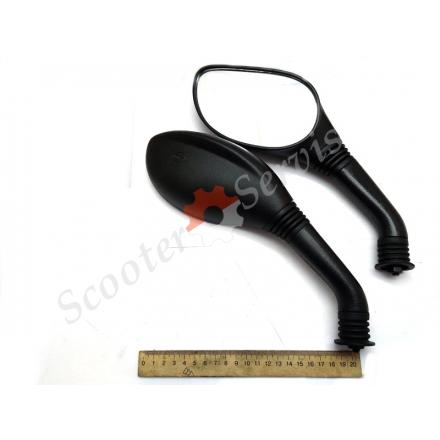 Дзеркала сферичні, тип Ямаха, Yamaha, для максі скутерів, різьблення права / права М8