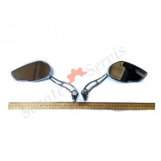 Зеркала тип KOSO металлические, хромированные, сферическое зеркало.