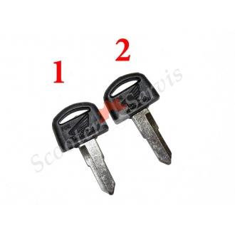 Ключ короткий тип Хонда Honda, заготовка левая бороздка, правая бороздка (короткий)