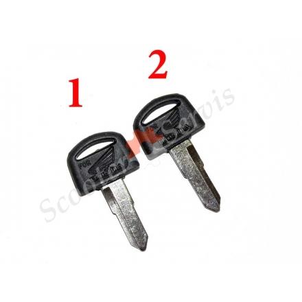 Ключ короткий тип Хонда Honda, заготівля ліва борозна, права борозна (короткий)