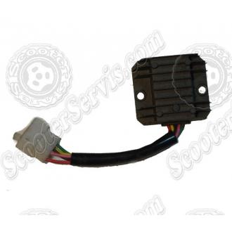 Регулятор напряжения 125-150сс, 5 проводов (черный...