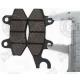 Гальмівні колодки задні, з вухом, 2т-4т, 50-250 куб